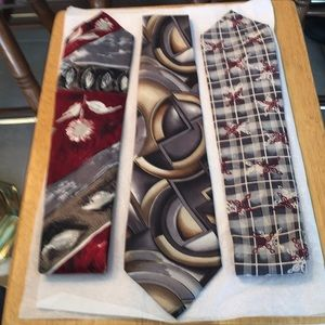 100 percent silk ties set of three